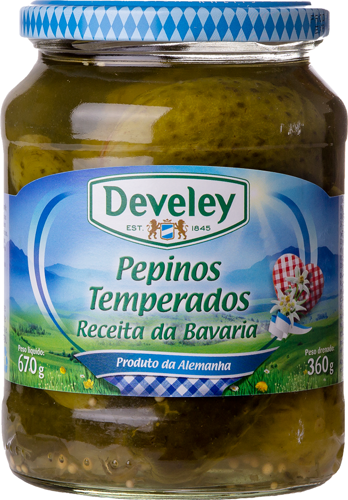 Conserva Pepino Temperado Develey